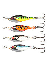 "cheap -4 pcs Spinner Baits Fishing Lures Buzzbait & Spinnerbait Green Orange Silver Blue g/Ounce mm/2-3/8"" inch,MetalSea Fishing Spinning"