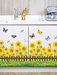 cheap -Fashion Sunflowers Skirting Line Wall Stickers DIY Environmental Wall Decals