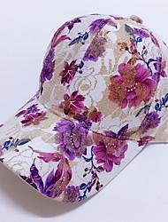 cheap -Women Summer Baseball Hat Sequins Rose Flower Prints Outdoor Hip Hop Sun Hat