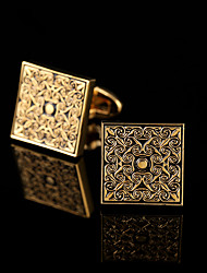 cheap -Geometric Silver Golden Cufflinks Copper Pattern Classic Fashion Gift Boxes & Bags Party Business / Ceremony / Wedding Men's Costume