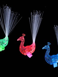 cheap -Finger Peacock Raise Tail Optical Fiber Lamp Toy (Random color)