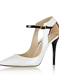 Women's Heels Spring Fall Club Shoes PU Office & Career Party & Evening Dress Stiletto Heel Buckle