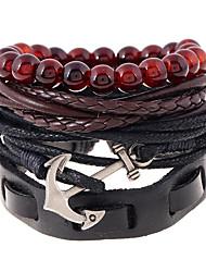 Недорогие -Муж. Жен. Кожаные браслеты Мода Кожа Геометрической формы Бижутерия Свадьба Для вечеринок Спорт Бижутерия