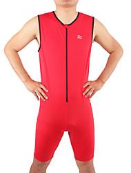 preiswerte -Triathlonanzug Herrn Ärmellos Fahhrad triathlon/Triathlon-Anzug Trisuit Atmungsaktiv Komfortabel Handyhülle für das ganze Handy Elasthan