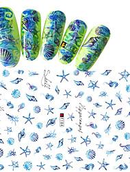 1pcs Summer Hot Fashion Romantic Design Nail Art 3D Stickers Beautiful Shell Shellfish Starfish Hippocampus Decoration For Nail DIY Beauty F184