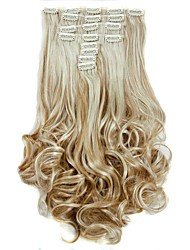 cheap -Synthetic Hair False Hair Extensions 20inch 150g Curly Hairpiece Heat Resistant Hair D1022 27H613#