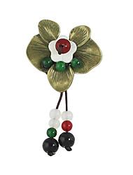 Недорогие -Женский Броши Базовый дизайн Сплав В форме цветка Красный Бижутерия Для Повседневные