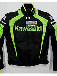 cheap -Armored Motorcycle Men Jacket Air Mesh Motorsport Jecket for Men (Black/Green & Black/White Color)