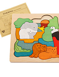 baratos -Quebra-cabeças Quebra-Cabeças de Madeira Blocos de construção Brinquedos Faça Você Mesmo Quadrangular Madeira Hobbies de Lazer