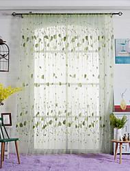 Un pannello Trattamento finestra Paese , A foglia Camera da letto Tessuto sintetico Materiale Sheer Curtains Shades Decorazioni per la