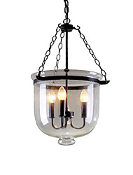 cheap -Pendant Light ,  Traditional/Classic Rustic/Lodge Retro Painting Feature for Designers MetalLiving Room Bedroom Dining Room Study
