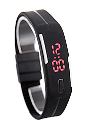 led watch date vermelho retângulo digital discagem banda de borracha masculino famale relógio de pulso silicone led kids watches sports