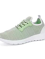 Da donna scarpe da ginnastica Comoda Tulle Primavera Autunno Casual Footing Comoda Più materiali Piatto Bianco Nero Grigio Verde Chiaro5