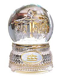 cheap -Music Box Snow Globe Circular Carousel Merry Go Round Cute Kid's Adults Kids Gift Crystal Women's Girls'