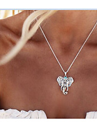 Women's Pendant Necklaces Jewelry Elephant Alloy Animal Design Euramerican Fashion Vintage Personalized Jewelry For Daily Casual 1 pcs