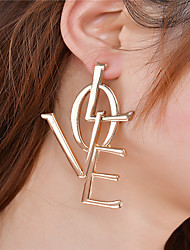 Women's Dangle Earrings Jewelry Fashion Inspirational Personalized Euramerican Oversized Alloy Alphabet Shape Jewelry ForParty Special