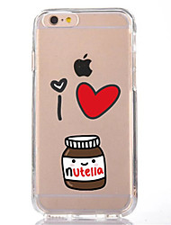 economico -Custodia Per Apple iPhone X iPhone 8 Transparente Fantasia/disegno Custodia posteriore Cartoni animati Morbido TPU per iPhone X iPhone 8