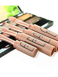 4 Makeup Brush Set Synthetic Hair Portable Travel Professional Full Coverage Plastic Eye Lip