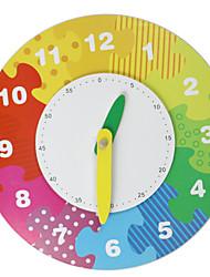 baratos -Blocos de Construir / Jogos de Madeira / Modelos de madeira 1pcs Relógio Clássico Para Meninos Dom