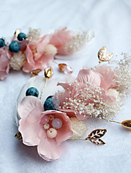 Alloy Flax Fabric Headpiece-Wedding Special Occasion Casual Outdoor Hair Clip 1 Piece