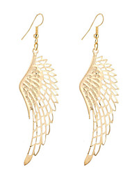 cheap -Fashion Vintage Simple Plated Gold/Silver Hollow Wing Earrings For Women Dangle Long Drop Earrings Jewelry Accessories Bijouterie
