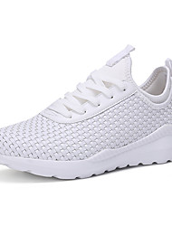 Men's Athletic Shoes Spring Summer Fall Winter Comfort Light Soles Microfibre Outdoor Athletic Casual Lace-up Black White Walking