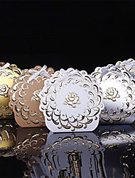 25pcs Flower Wedding Box Kraft Paper Candy Box Party Decoration