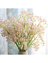 abordables -1 Une succursale Soie Gypsophila Fleur de Table Fleurs artificielles