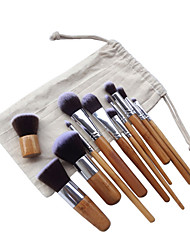 cheap -11pcs Professional Makeup Brushes Makeup Brush Set / Contour Brush / Foundation Brush Synthetic Hair Portable / Full Coverage Wood Eye /