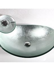 Недорогие -умывальник для ванной Современный - Закаленное стекло Прямоугольный