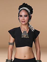 Belly Dance Tops Women's Training Cotton 1 Piece Short Sleeve Top