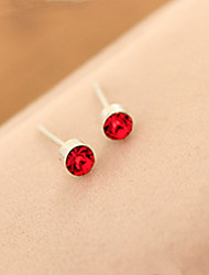 cheap -Stud Earrings Korean Rhinestone Gem Small Sweet Crystal Earrings Female Daily Movie Jewelry
