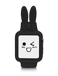 economico -Cinturino in silicone e custodia per orologi da polso per la serie 1/2 38mm / 42mm coniglio stile giallo / blu / nero / rosa / bianco