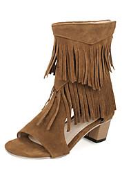 Недорогие --Для женщин-Для праздника Повседневный-Дерматин-На толстом каблуке-Удобная обувь-Сандалии