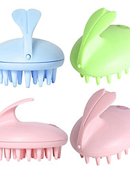 cheap -Electric Waterproof Cute Rabbit Head Massager Magic Shampoo Massage Comb Bath Massage Scalp Care Vibrating Brush
