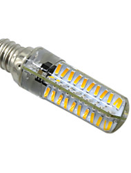 preiswerte -5W E14 E17 BA15D E12 LED Doppel-Pin Leuchten T 80 Leds SMD 4014 Abblendbar Warmes Weiß Kühles Weiß 400-500lm 2800-3200/6000-6500K AC