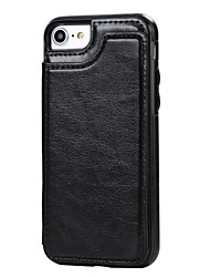 Недорогие -Для яблока iphone 7 плюс 7 чехол для футляра полный чехол для телефона твердый цвет hard pu leather для яблока iphone 6s plus 6 plus 6s
