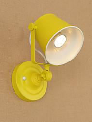 cheap -QSGD AC220V-240V 4W  E27 Led Light Painted Steel Wall Lamp Dumb Black American Coffee Decoration Retro Wall Light Lightsaber Lamp On Wall