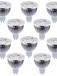 abordables -10pcs 5.5w mr16 (gu5.3) led spotlight 4 haute puissance conduit chaud / frais blanc led spotlight ampoule led lampe dc12v