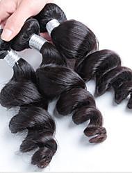 cheap -300g 3pcs/Lot 8-26Raw Brazilian Virgin Hair Natural Black Loose Wave Human Hair Weaves Low Price Hot Sale.