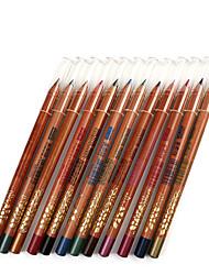 abordables -Lápices de Ojos Lápiz Seco Gloss colorido Natural Ojos M.N