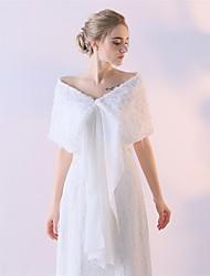 preiswerte -Polyester Hochzeit Wickeltücher für Frauen With Blume Schals