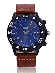 cheap -Luxury Brand Military Watch Men Quartz Analog Clock Leather Strap Clock Man Sports Watches Army Relogios Masculino