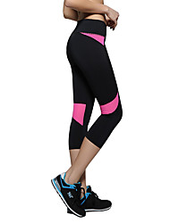 cheap -Women's Running Pants Breathable Soft Sweat-wicking Comfortable 3/4 Tights Yoga Camping / Hiking Exercise & Fitness Leisure Sports Running