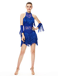 abordables -robes de danse latine femmes performances spandex cristaux / strass / gland (s) 2 pièces par will we®