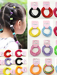 The New Children's Hair Accessories Baby Small Han Edition Elastic Hair Bands Girls Hair Rope Holster Wholesale 50/5 Card Mix