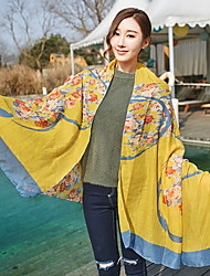 Cotton and Linen Love Heart Bohemia Beach Tourism 2017 Cotton Scarf Shawl Thin Long Rectangle Print Women's