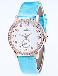 baratos -Mulheres Relógio de Pulso Com Strass Lega Banda Casual / Fashion Preta / Branco / Azul / Um ano / Tianqiu 377