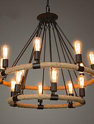 Недорогие -Свеча-стиль Люстры и лампы Рассеянное освещение Окрашенные отделки Металл Свеча Стиль 110-120Вольт / 220-240Вольт Лампочки не включены / E26 / E27