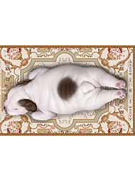 Pekingese 3D Stickers The Floor Tile Individuality Decorative Carpet Decal for The Bathroom Or The Living Room